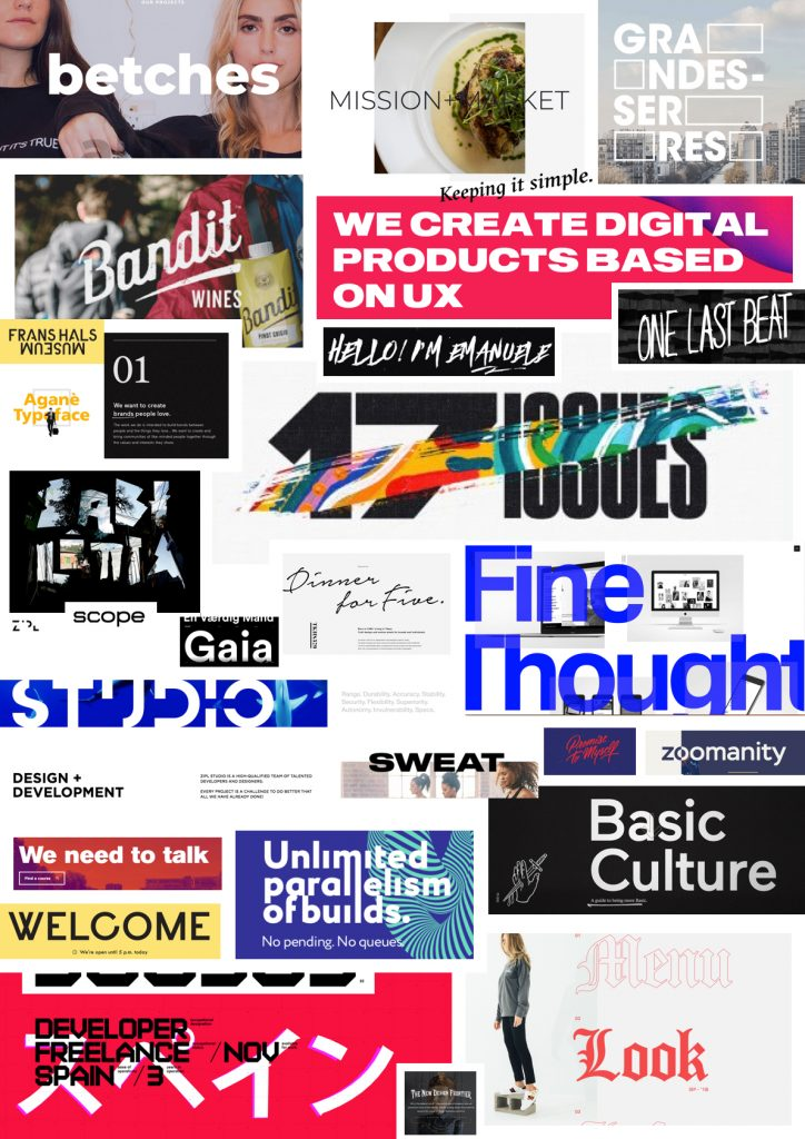 Typography moodboard