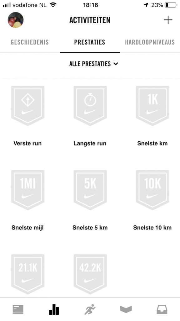 Nike run+ achievements