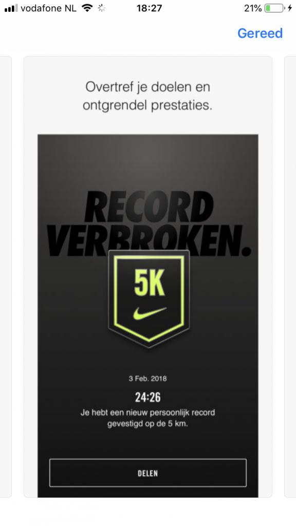Nike run - broke record