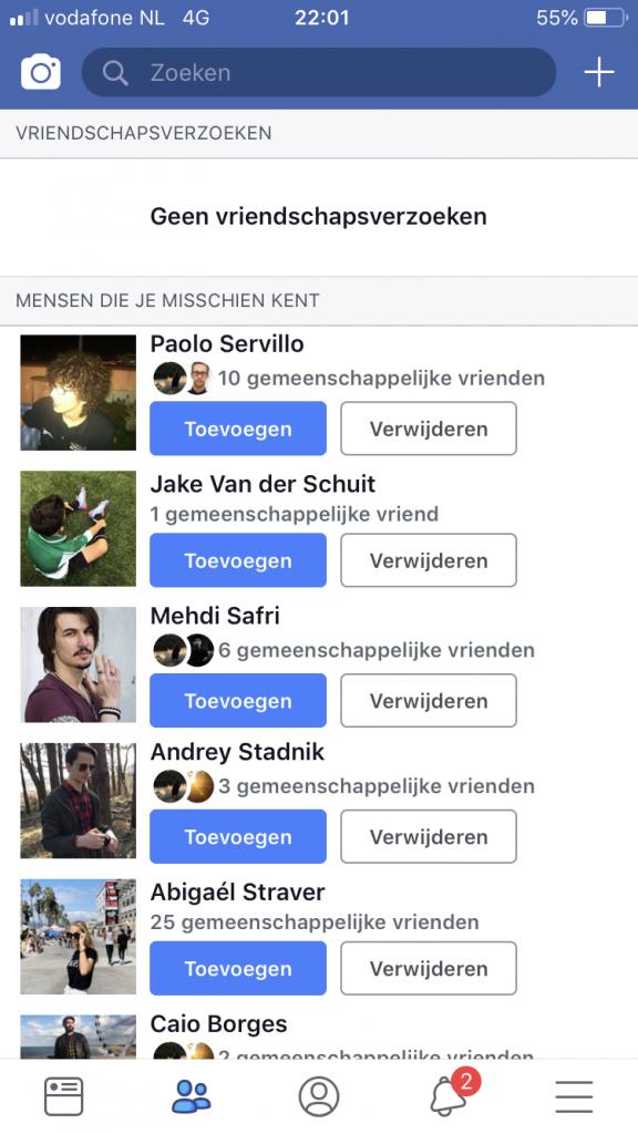Facebook - friends