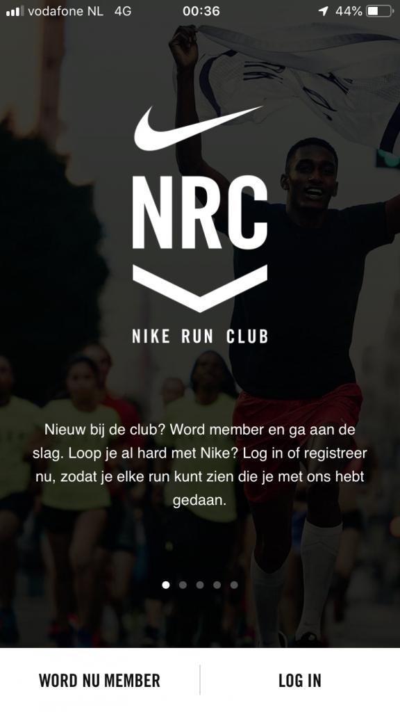 Nike run - login