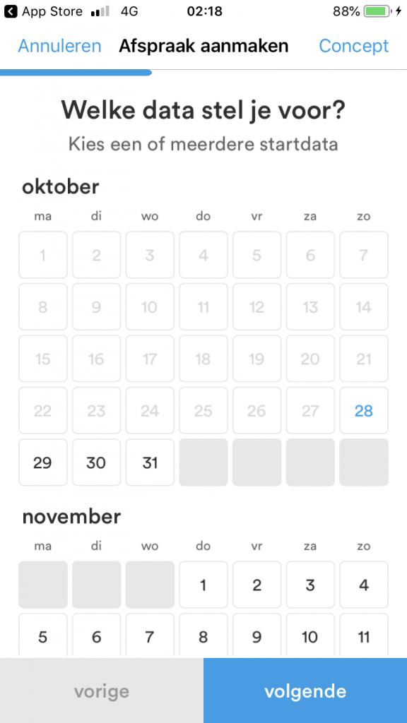 Datumprikker - date