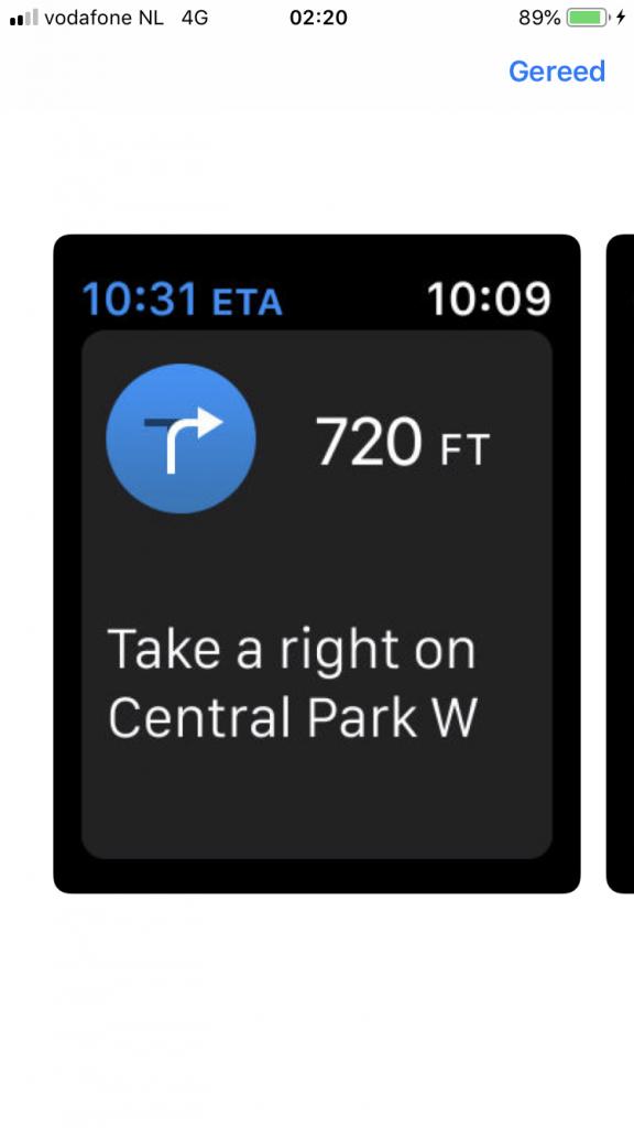 Google Maps - apple watch