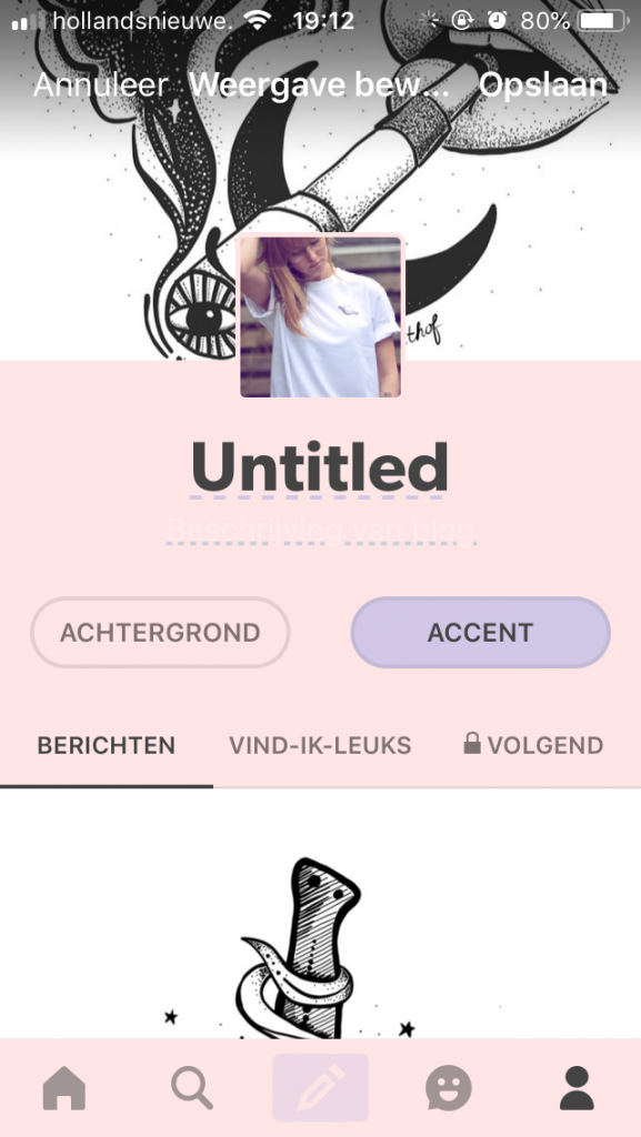 Tumblr - profile creation
