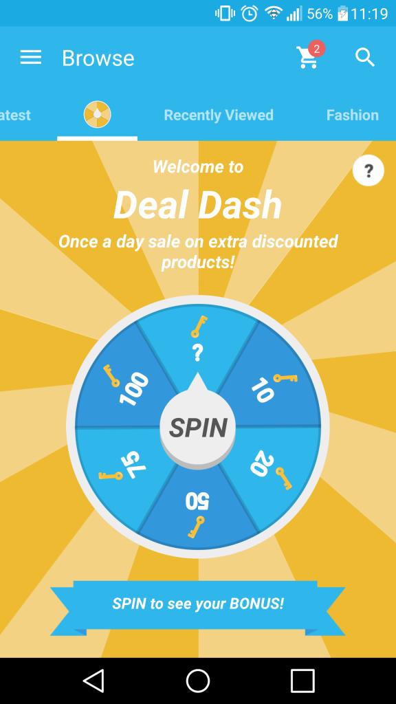Wish - deal dash