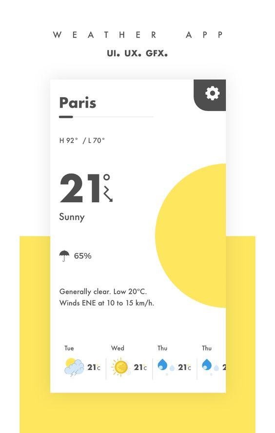 Weather app - Dribbble